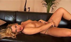 Hot babe and her toy cock