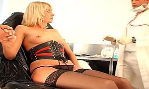 Doctor makes her patient suck cock